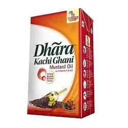 Dhara OIL -Mustand (Kachi Ghani) 1litre Carton
