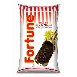 Fortune Kachi Ghani Pure Mustard Oil 1 litre Pouches