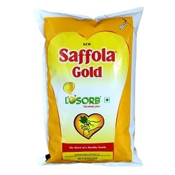 Saffola Gold VEGETABLE Oil, 1 Ltr Pouch