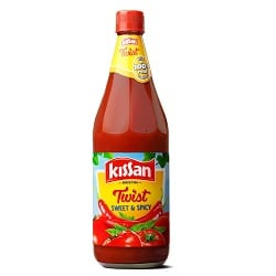 Kissan Sweet and Spicy Ketchup, 1Kg