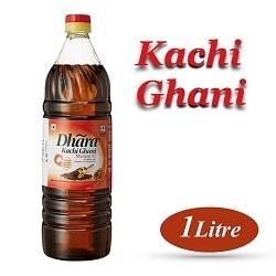Dhara Kachi Ghani Mustard 1 Ltr PET Bottle