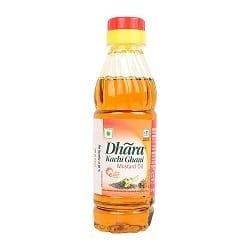 Dhara Kachi Ghani Mustard 200ml PET Bottle