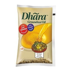 Dhara OIL - Groundnut 1ltr pouch