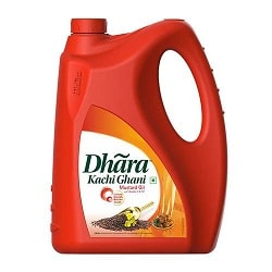 Dhara OIL -Mustand (Kachi Ghani) 5 litre can