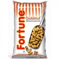 Fortune Goldnut Refined Groundnut Oil 1 litre Pouches
