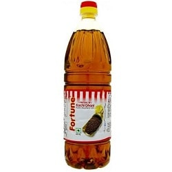 Fortune Kachi Ghani Pure Mustard Oil 1 litre Pet bottles