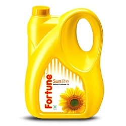 Fortune Sunlite Oil 5 litres, Jerry cans