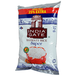 India Gate Basmati Rice-Super (1KG)