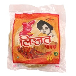 Lijjat Papad - Moong, 200 gm Pouch
