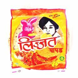 Lijjat Udad with Garlic - Chillies Papad 200 gm Pouch