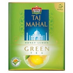 Taj Mahal Honey Lemon Green 10 Tea Bags