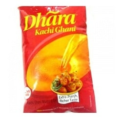 Dhara Mustard Oil - 1 Ltr Pouch