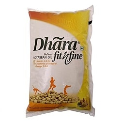 Dhara Fit 'n' Fine Refined Soyabean Oil Pouch